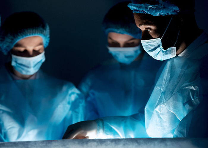 Surgeons performing a procedure.